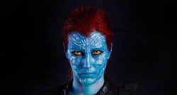 Mystique Inspired Body Paint
