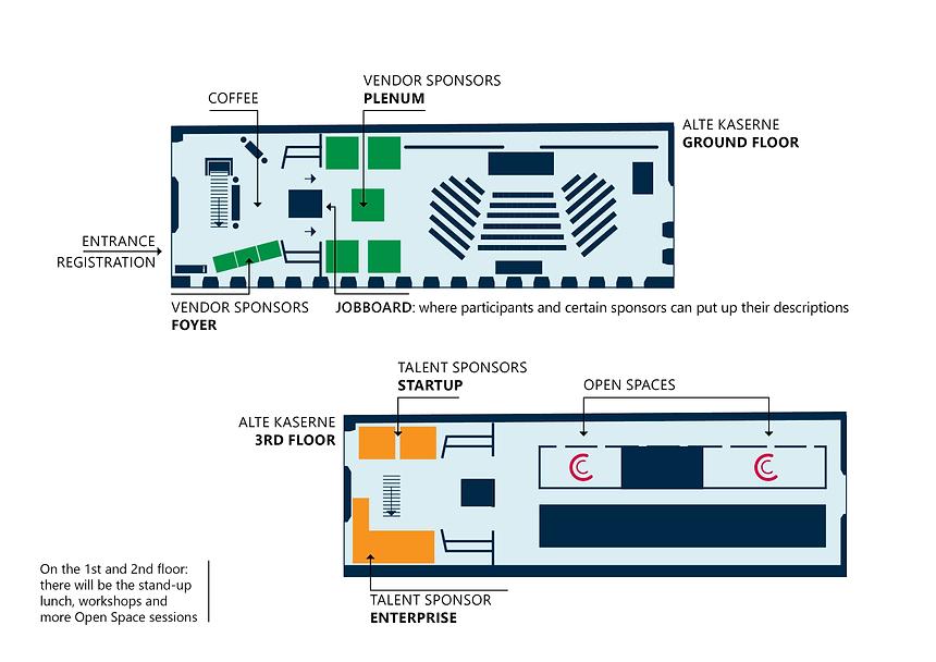 Sponsoring Packages Floorplan