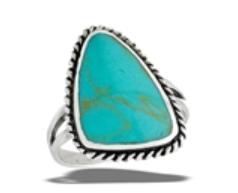 Sterling Silver Triangular Braided Bali Ring