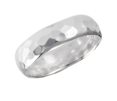 Sterling Silver Hammered Midi Ring