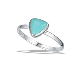 Sterling Silver Turquoise Triangle Ring