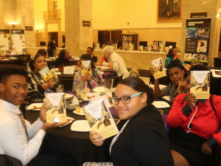 MRI Scholars Dress Up for a Night with Jacqueline Woodson