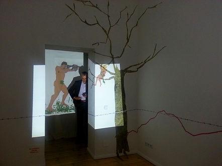 Milena Jovicevic, visual artist,iGenesis iDisappearance, Institut für Alles Mögliche Zentrale, Wedding, Berlin, Germany, September 2013.