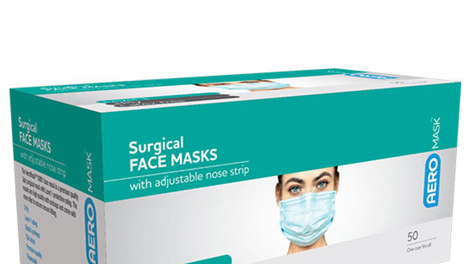 Surgical Face Masks (Box of 50)