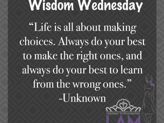 Wisdom Wednesday