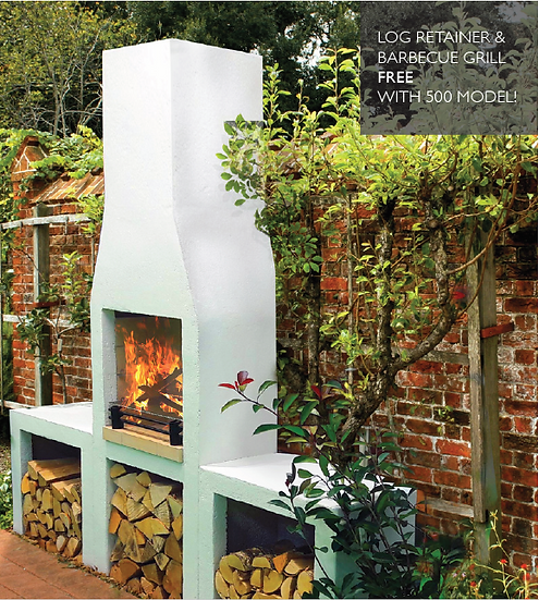 Garden Fireplace - Schiedel Isokern 500 Model