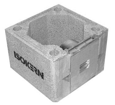 360mm square casing & soot door 250mm high