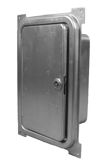 Double soot door 265x395mm