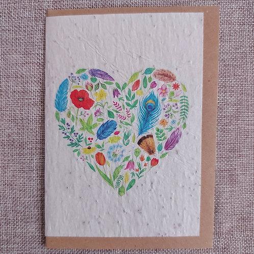 """Carte à planter """"Coeur de Fleurs """""""