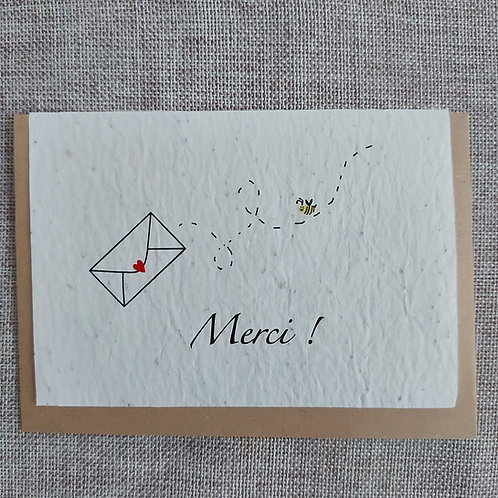 "Carte à planter ""Merci"""
