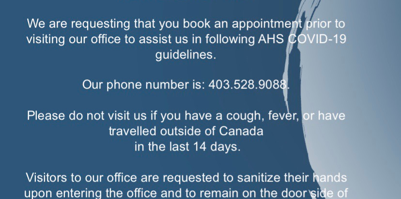 Revised Temporary Office Hours