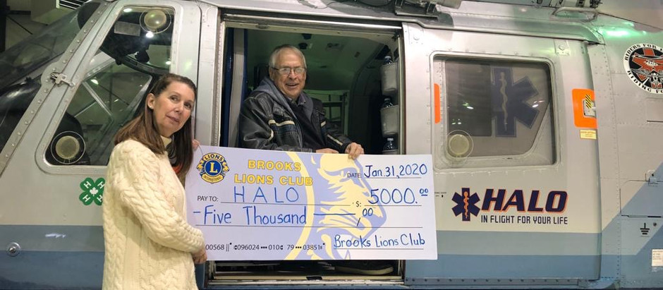 Brooks Lions Club Supports HALO!