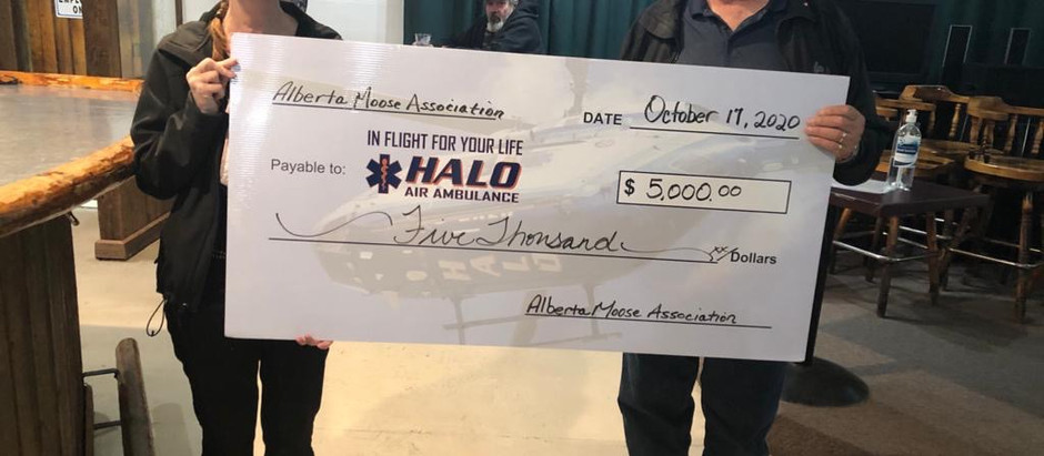 Alberta Moose Association Continues to Support HALO!