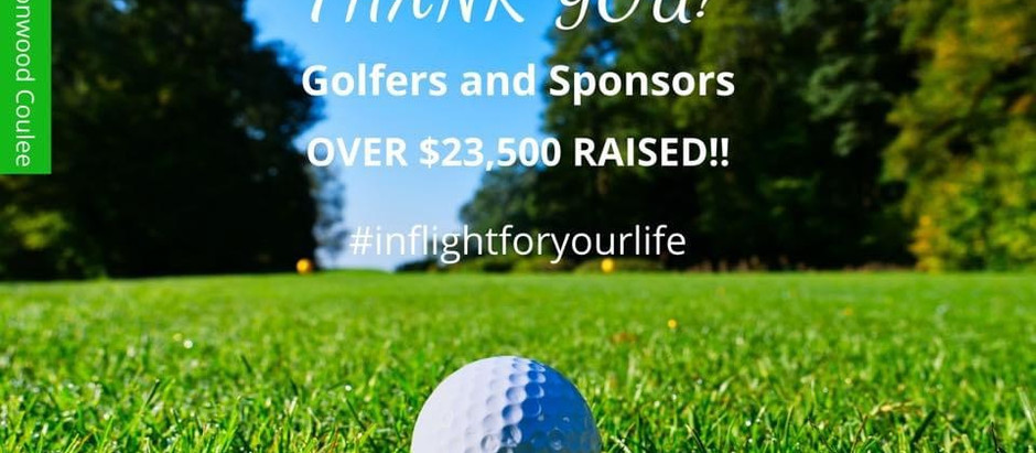 'Hole In One' Golf Tournament Thank you's!