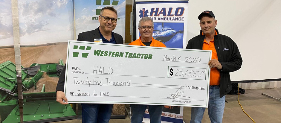Western Tractor donated to HALO Through the Farmers for HALO Initiative!