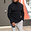 Thumbnail: Black Cashmere Ribbed Turtleneck Sweater (Heavy Weight)