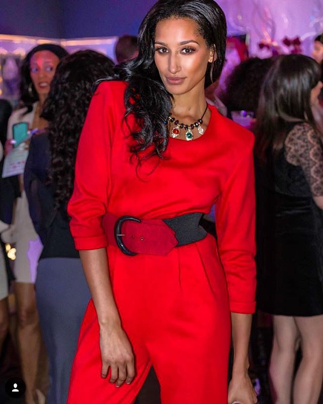 Americas Next Top Model _kiaranativitybelen rocking the red hot Romper by _oliventa_ to perfection