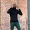 Thumbnail: Matte Black Cashmere Turtle Neck (Form Fit)
