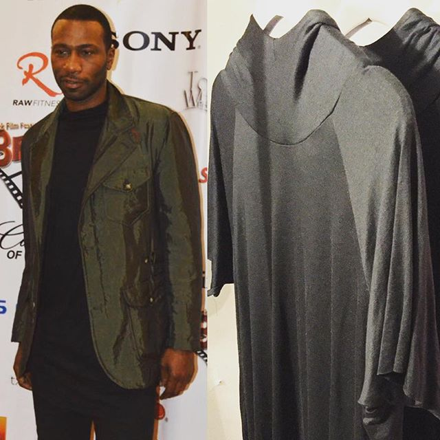_wwwjustleon Mr. Leon Robinson is modeling an Oliventa piece to accompany his outfit at the 2016 Bla