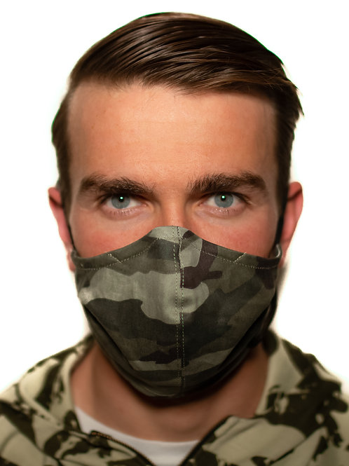 Camo Face Mask with Filter Pocket