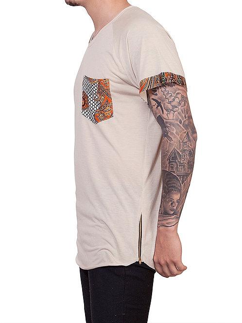 Tan Paisley T-shirt
