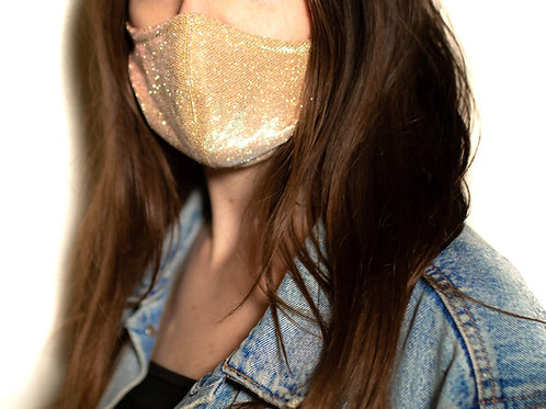 Rose Gold Diamond Cut Face Mask