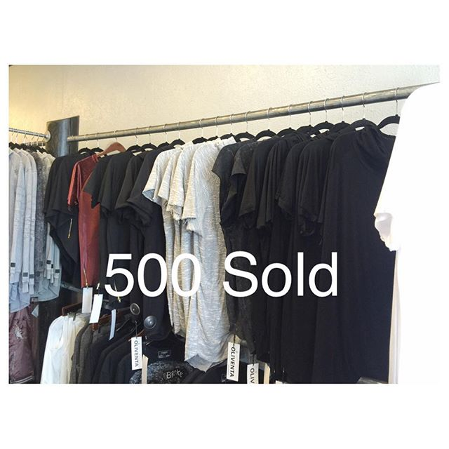 _oliventa_ This year we have 500 Shirts sold in Los Angeles and we want to thank all are customers a
