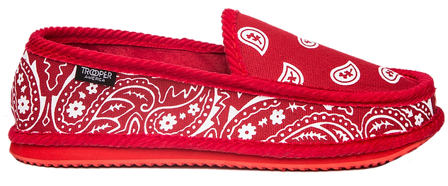 Trooper America Red Bandana Paisley Shoe
