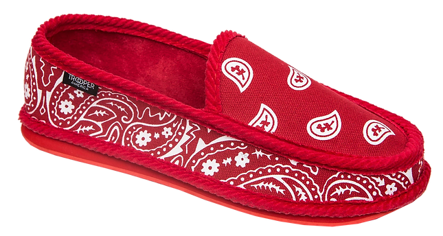 Trooper Ameria Red Bandan Paisley Slippe