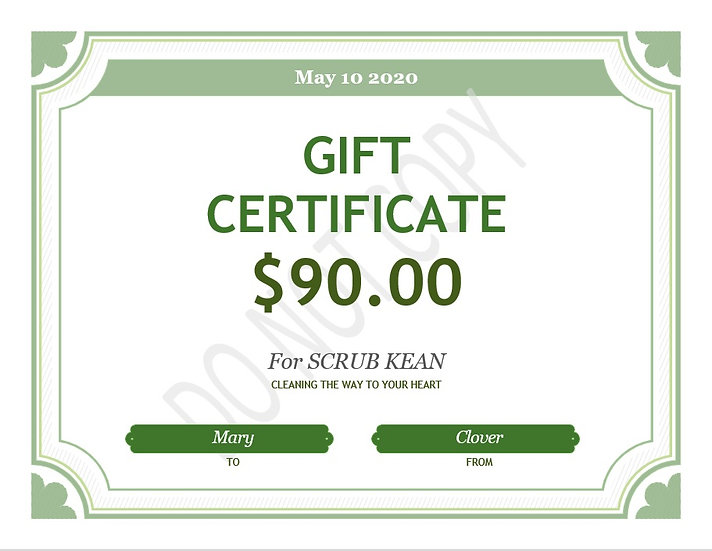 Essential budget package gift card
