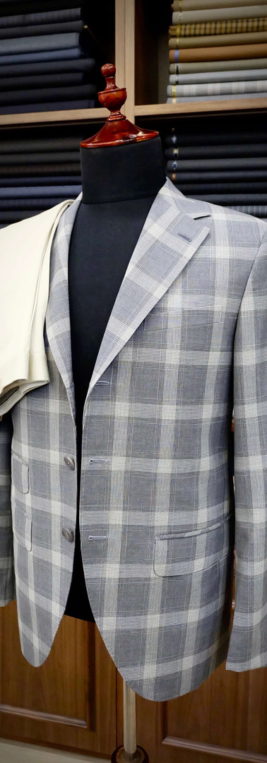 HS Eco-Traveller Gray Check Blazer