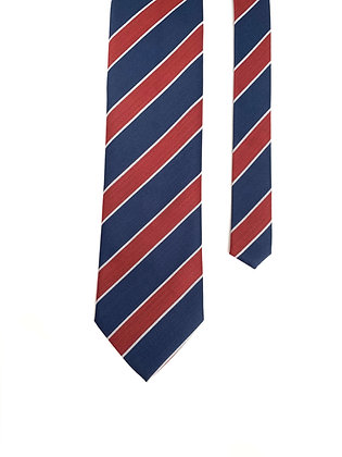 Blue Red - English Wool Tie