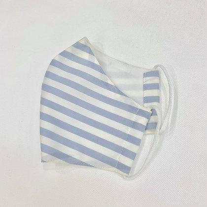 Cotton Blue Stripe Mask