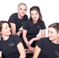 Tangoteam des tanzhaus nrw Düsseldorf: von links nach rechts Stefanie Pla Pérez, Jost Budde, Andrea Stegmaier, Mareike Focken Foto: Marcus Oberländer