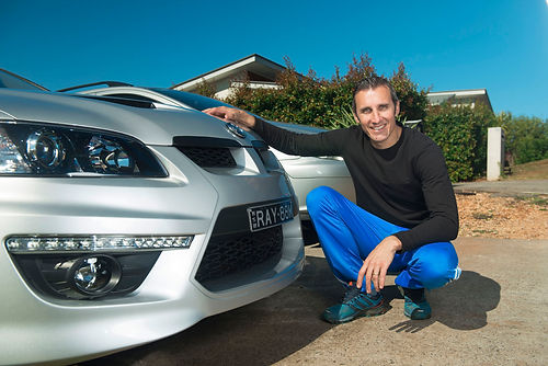 Ray Karam with his car