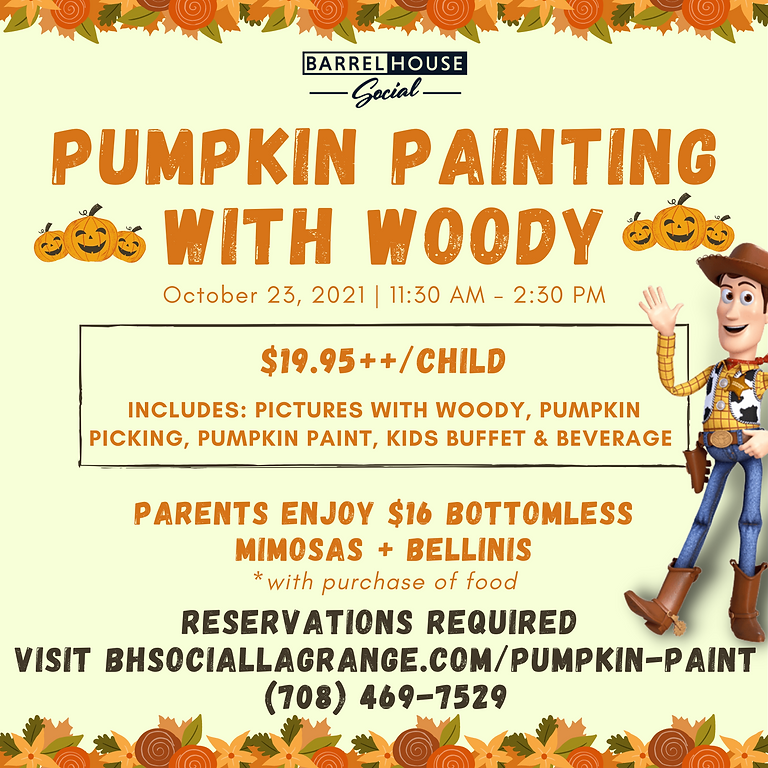 Pumpkin Painting with Woody