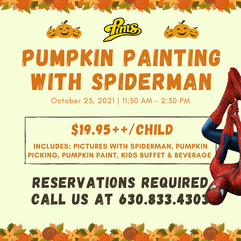 Pumpkin painting with Spiderman