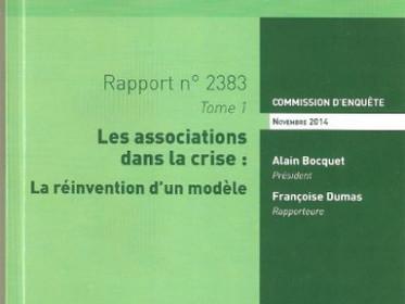 Les associations dans la crise - rapport de l'Assemblée Nationale