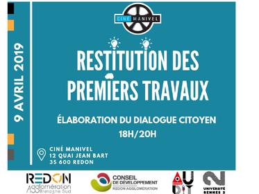 Restitution du travail sur l'organisation du dialogue citoyen