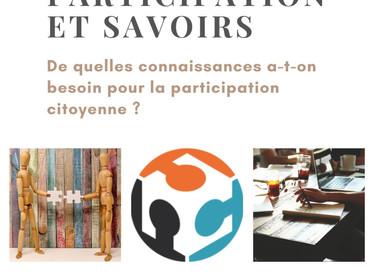 """Webinar """"Participation et savoirs"""""""
