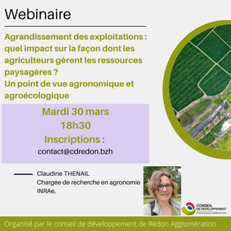 Agriculture : webinaire organisé le 30 mars 18h30