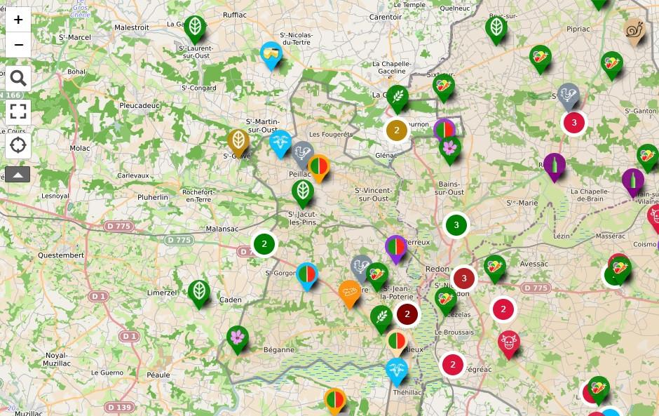 Carte collaborative des producteurs locaux