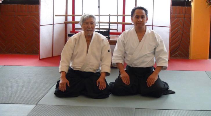 Sensei Hagihara y Sensei Fernando