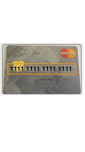 Kartennummer der Kreditkarte wird angezeigt in der App easy4you