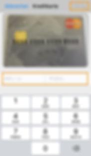 Ablaufdatum und Prüfziffer der Kreditkarte eintrage in der App easy4you