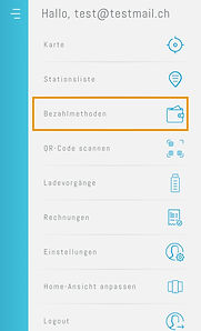 Bezahlmethode erfassen in der App easy4you