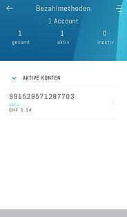 Übersicht emobily Kontonummer und -saldo