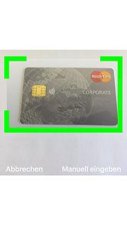 Kreditkarte scannen mit der App easy4you