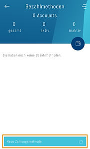 Neue Zahlungsmethode erfassen in der App easy4you