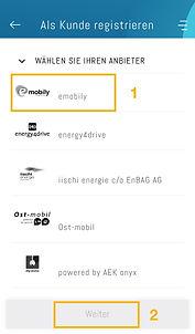 emobily in der App easy4you wählen